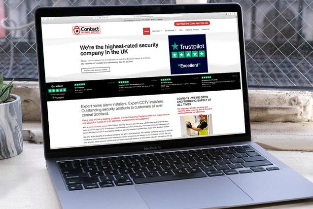 website design laptop