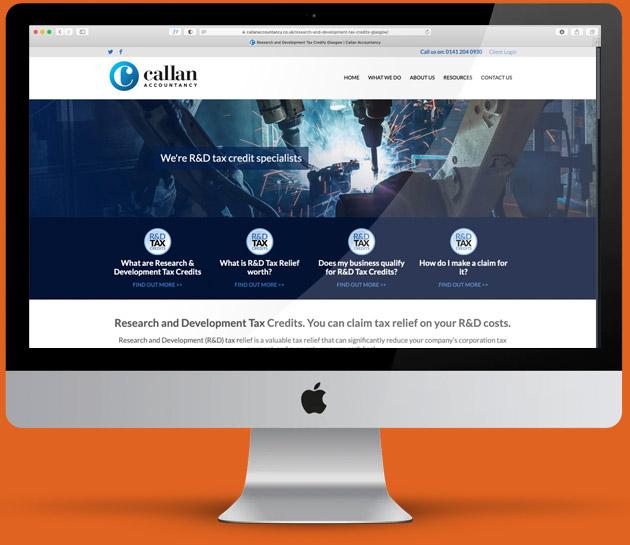 laptop showing website design pc