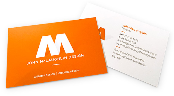 website design work business card