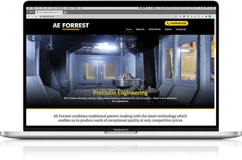 website design laptop forrest