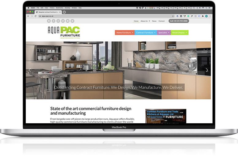 website design laptop aquatic