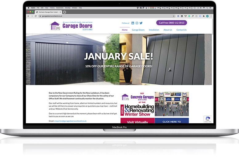 website design laptop garage doors