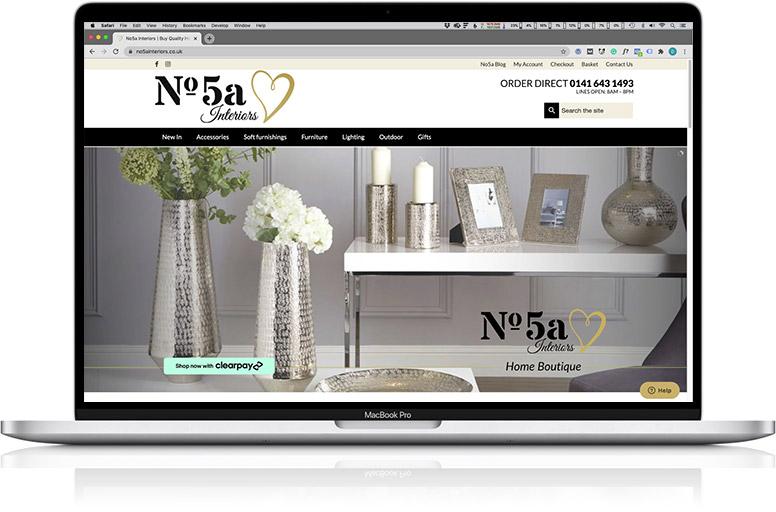 website design laptop no5a