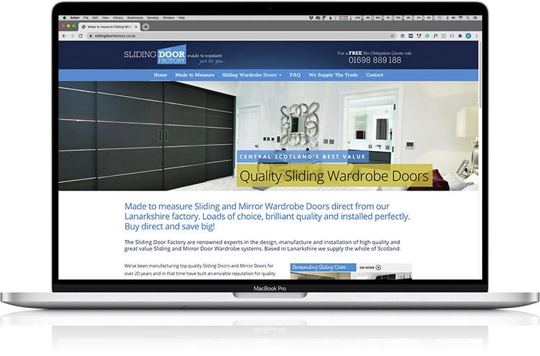 website design laptop sliding doors