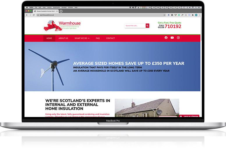 website design laptop Warmhouse