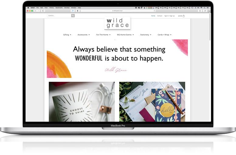 website design laptop wild grace