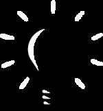 lightbulb website design icon